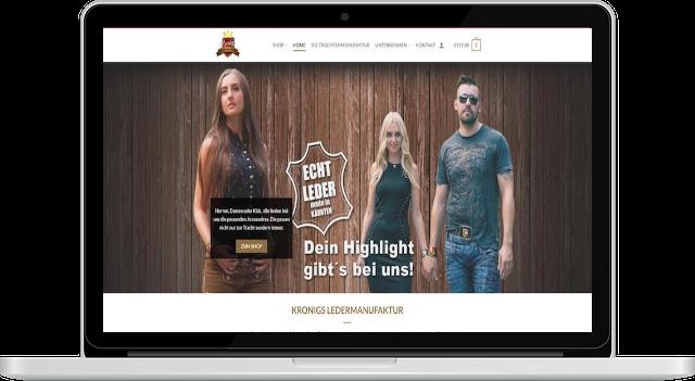 Firmenwebseite mit Woocommerce Shop